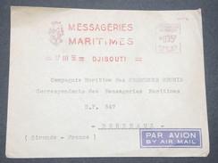 FRANCE / COTE DES SOMALIS - Affranchissement Mécanique De Djibouti En 1955 Sur Enveloppe Pour Bordeaux - L 7492 - Côte Française Des Somalis (1894-1967)