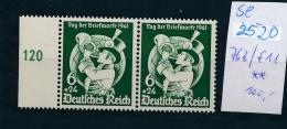 D.-Reich -Plattenfehler  Paar Mit 762 / F11  (se2520    ) Siehe Scan