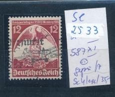 D.-Reich - 587 XI O Geprüft  (se2533   ) Siehe Scan