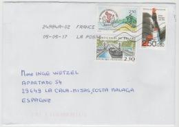 FS829 / Buntfrankatur (3 Marken)  Auf Brief 2017 - France
