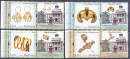 2017. Moldova, Ancient Vestiges From The Treasures From Mational Museum, 1 Set Wirh 4 Labels, Mint/** - Moldawien (Moldau)