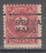 USA Precancel Vorausentwertung Preos Locals Kansas, Topeka J62-L-13 E