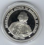 Médaille En Argent, Histoire De Paris ( Beaumarchais Auteur Du Mariage De Figaro ) - France