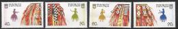 1989 Tuvalu Ceremonial Costumes Dancers   Complete Set Of 4  MNH - Tuvalu