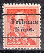 USA Precancel Vorausentwertung Preos Locals Kansas, Tribune L-1 TS