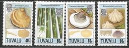 1989 Tuvalu Fungi Mushrooms    Complete Set Of 4  MNH - Tuvalu