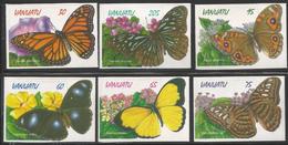 1998 Vanuatu Butterflies  Complete Set Of 6  MNH