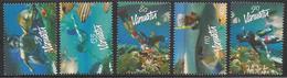 2003 Vanuatu Snorkeling Diving Fish Marine  Complete Set Of 5  MNH