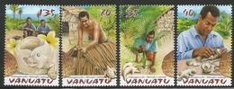 2003 Vanuatu Natangguru Palm Tree Uses  Complete Set Of 4  MNH