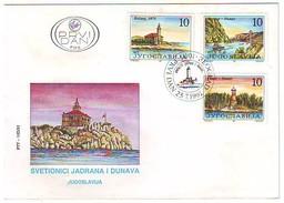 FDC YUGOSLAVIA 2499-2501,lighthouses - Leuchttürme