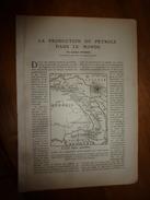 1917 LSELV  :Production Pétrole Dans Le Monde (par Aristide Cormier Ingénieur Des Arts Et Manufactures); Les Sous-marins - Documents