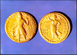 COINS-INDIAN ANCIENT COINAGE-KUSHAN DYNASTY-GOLD COIN-PPC-FC-73