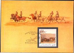 COINS-GOLD FEVER-THE GOLD ESCORT-SET OF 5 MAXIMUM CARDS-AUSTRALIA-SCARCE-FC-73
