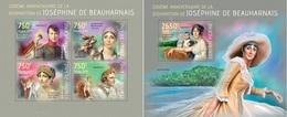 Centrafrica 2014, De Beauharnais Napoleon, 4val In BF +BF
