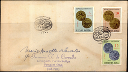 COINS-COINAGE OF PORTUGUESE INDIA-COMMERCIALLY USED COVER WITH PICTORIAL CANCELLATION-1959-SCARCE-FC-73 - Münzen