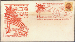 COINS-SOUTH FLORIDA COIN CLUB-INTL COIN CONVENTION-COVER WITH PICTORIAL CANCELLATION-1978-USA-SCARCE-FC-73 - Münzen