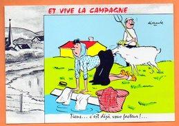 ET VIVE LA CAMPAGNE   TIENS C'EST DEJA VOUS FACTEUR ...1972 Alexandre    Carte Vierge N° 48225 - Humour