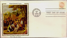 COINS-RED INDIAN-COLORANA SILK CACHET-EXPERIMENTAL ISSUE-SOUVENIR COVER-USA-1978-SCARCE-FC-73