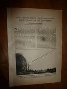 1917 LSELV :Les Projectiles Destructeurs De BALLONS Et De ZEPPELINS (par Vincent Courvoisier Ingénieur-constructeur ) - Documents