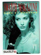 SWATCH Magazine N°4 Montre KATE BARRY Opéra Boxe Farrara Sednaoui Kalfon Jazz Blues ... - Werbung