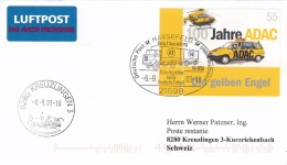 Germany Cover Franked W/100 Jahre ADAC P/m Harsefeld 2003 With Truck In Postmark (T15-31)