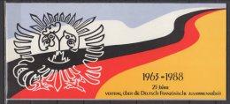 """Emissions Communes -  France Allemagne - """" 25eme Anniversaire Sur La Coopération ... """" - 1988 - Blocs & Feuillets"""