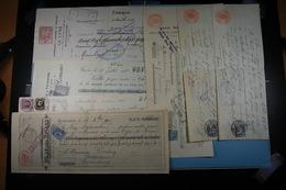 Lot De 50 Chèques Et Reçus - Cheques & Traveler's Cheques