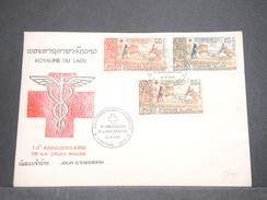 LAOS - Enveloppe FDC Croix Rouge En 1987 - L 7528