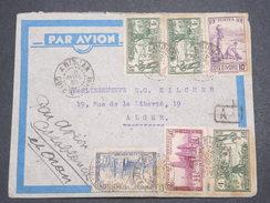 FRANCE / COTE D 'IVOIRE - Enveloppe De Abidjan Pour Alger En 1939 , Affranchissement Plaisant - L 7530 - Côte-d'Ivoire (1892-1944)