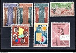 CONGO LOT ENTRE A 15 ET A 25** SUR MONUMENT DE NUBIE  EXPLOITATION DE LA FORET  EUROPAFRIQUE ET DIVERS - Congo - Brazzaville