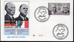 Allemagne 1183 Général De Gaulle , Chancelier Konrad Adenauer Deutschland - Emissioni Congiunte