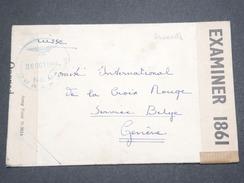 FRANCE / ETATS UNIS - Enveloppe En FM Américaine En Octobre 1944 Pour La Suisse , Contrôle Postal  - L 7532 - Guerre De 1939-45