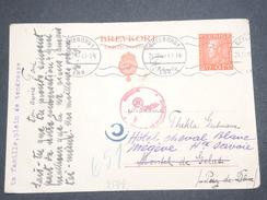 SUÈDE - Entier Postal De Göteborg Pour La France En 1940, Contrôle Postal Allemand - L 7533 - Postal Stationery