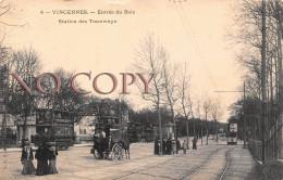 94 - Vincennes - Entrée Du Bois - Station Des Tramways - Tram Attelage - Vincennes