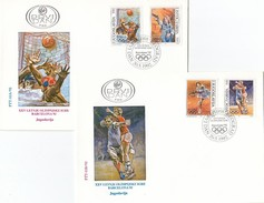 YUGOSLAVIA FDC 2538-2541,olympic Sport - Summer 1992: Barcelona