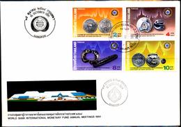 COINS-ANCIENT AND MODERN COINAGE OF THAILAND-WORLD BANK INTERNATIONAL MONETARY FUND-THAILAND-FDC-1981-SCARCE-FC-73 - Münzen