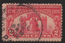 1926 US 2c, Used, Liberty Bell, Sc 627 - United States