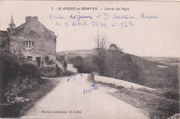 Carte Postale Ancienne De La Nièvre - Saint André En Morvan - Entrée Du Pays - Frankreich