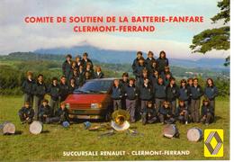 Comité De Soutien De La Batterie-fanfare Clermont-Ferrand - 63 - Renault Espace Carte Publicitaire - Clermont Ferrand