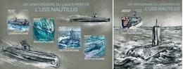 Centrafrica 2014, Submarine USS Nautilus, 4val In BF +BF