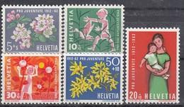 SCHWEIZ  758-762, Postfrisch **, Pro Juventute 1962, 50 Jahre Pro Juventute