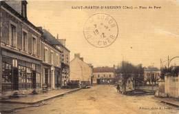 18 - CHER / Saint Martin D' Auxigny - Place Du Pont - Beau Cliché - Léger Défaut - Autres Communes