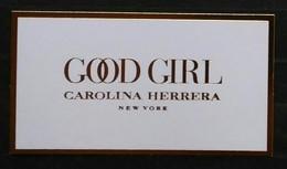 CAROLINA HERRERA. TARJETA (NO PERFUMADA). - Cartas Perfumadas