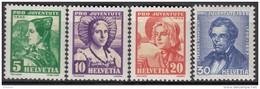 """SCHWEIZ 287-290, Postfrisch **, """"Pro Juventute"""" 1935, Frauentrachten, Stefano Franscini"""