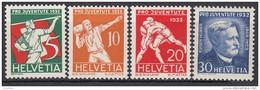 """SCHWEIZ 262-265, Postfrisch **, """"Pro Juventute"""" 1932, Volkssport, Eugen Huber"""
