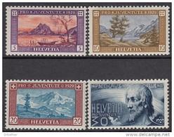 """SCHWEIZ 235-238, Postfrisch **, """"Pro Juventute"""" 1929, Landschaften, Nikolaus Von Flue"""