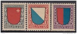 """SCHWEIZ 153-155, Postfrisch **, """"Pro Juventute"""" 1920, Wappen"""
