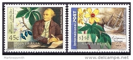 Australie - Australia 2001 Yvert 1974-75,  Botanist Daniel Solander - MNH