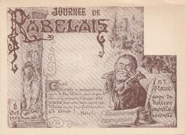 Célébrités - Ecrivains - Rabelais - Illustrateur A. Reiner - Ecrivains