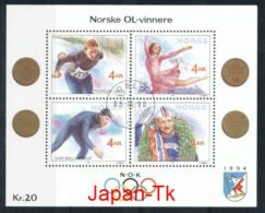 NORWEGEN Mi.Nr. Block  14 Olympische Winterspiele 1994, Lillehammer-used